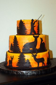 Hunt Fish 2 Cake Decorating Community Cakes We Bake Camo Cakes, Deer Cakes, Fish Cake Birthday, Cool Birthday Cakes, Birthday Ideas, 16th Birthday, Gone Fishing Cake, Fishing Cakes, Hunting Birthday