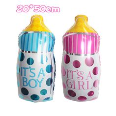 Large Baby Bottle Decoration 40 Inch Alphabet Balloons Party Decoration Supplies Gold Silver