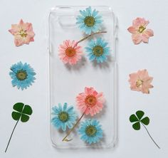 iPhone 6 Case Pressed Flowers iPhone 5s Case Pressed by mugandcase