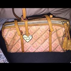 Final price!!! Pink dooney & Burke Good used condition very loved! Has marks inside & outside lost it shape was lost in my closet for awhile. open to offers!!! Dooney & Bourke Bags Satchels
