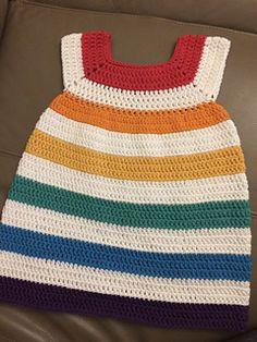 Crochet Baby Dress Free Pattern, Crochet Dress Girl, Crochet Baby Clothes, Knit Dress, Free Crochet, Onesie Pattern, Shrug Pattern, Little Girl Dresses, Toddler Dress
