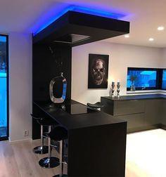 Kitchen Bar Design, Luxury Kitchen Design, Home Decor Kitchen, Interior Design Kitchen, Home Room Design, Dream Home Design, Modern House Design, Modern Kitchen Interiors, Küchen Design