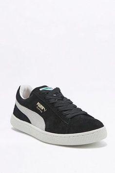 "info for aad9d dd6c5 Puma – Sneaker ""Classic"" aus Wildleder in Schwarz – Damen 35.5"