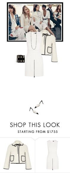 """""""Little White Dress"""" by mariotsala22 ❤ liked on Polyvore featuring HUISHAN ZHANG, Tom Ford, women's clothing, women, female, woman, misses and juniors"""