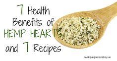 LOVE hemp heart seeds and I eat them daily. 7 Health Benefits of Hemp Hearts and 7 Recipes