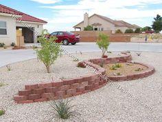 new mexico front yard landscapes bricks & rock - Google ...