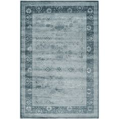 Safavieh Vintage Light Blue / Dark Blue Rug & Reviews | Wayfair