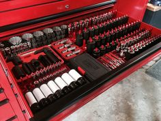 Snap on socket organizer tool socket organizer staggering snap on beautiful Tool Box Cabinet, Tool Box Storage, Workshop Storage, Mechanic Garage, Mechanic Tools, Mechanic Shop, Auto Mechanic, Garage Organization, Garage Storage