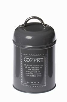 #Pojemnik Cooffe grey - BelleMaison.pl Rice Cooker, Kitchen Appliances, Black And White, Coffee, Grey, Diy Kitchen Appliances, Kaffee, Gray, Home Appliances