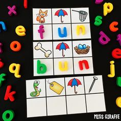 Short u word families fun! Check out these adorable activities where kids look at the beginning sound of each picture to figure out the mystery CVC! Short Vowel Activities, Short I Words, Cvc Word Families, Sounding Out Words, Alphabet Coloring Pages, Tracing Letters, Short Vowels, Spanish Language Learning, Cvc Words