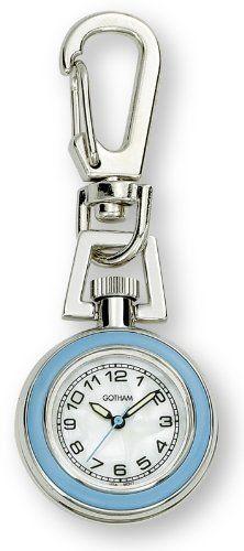 Gotham Unisex Silver-Tone Analog Quartz Keychain Clip Fob Watch # GWC18107-6 Gotham. $19.95