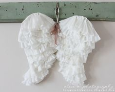 DIY angel wings made with coffee filters and cardboard.