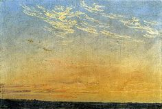 'Evening' by Caspar David Friedrich, 1824