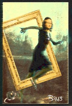 Mons running from Leonardo to Van Gogh Mona Lisa Secrets, Mona Friends, Mona Lisa Parody, 6th Grade Art, Collage, Van Gogh, Caricature, Artwork, Artist