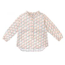 Pink peacocks froufrou blouse by @jesuisencp #Jesuisencp #blouse #Kidsfashion #FW1516