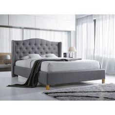 Aspen ágykeret szürke 140cm A nyugodt éjszakákért válaszd az Aspen ágykeretet! Gyönyörű kialakítása nem csak a hálószobát dobja fel, az Aspenre a kiváló minőség is jellemző. A letisztult, mégis különleges kivitelezésű darab tökéletesen illeszkedik skandináv és modern stílusú otthonokba is.