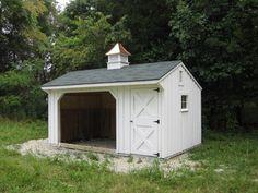 Byler Barns and Backyards - Harrisonburg VA Mini Horse Barn, Small Horse Barns, Mini Barn, Miniature Horse Barn, Horse Run In Shelter, Goat Shelter, Horse Shed, Horse Barn Plans, Horse Stables