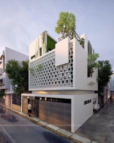 It just a nice concept for a villa in Ha Noi Viet Nam. :D Một bản concept cho ngôi biệt thự tọa lạc tại Nghi Tàm thủ đô Hà Nội với những ý tưởng khá mới lạ , tân tiến và rất độc đáo.