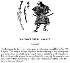Tanto or mijikai katana (dagger), page 21.