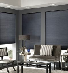 Aura cordless double honeycomb cellular shades feature quality construction and nine popular color choices. You won't find a better value in double cellular shades. Decor, Furniture, Interior, Home, Budget Blinds, Roman Shades, Window Coverings, Interior Design, Cellular Shades