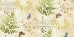 Susan Winget Premium Cotton Fabric-Ferns Scene