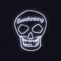 Over-Thinking will be the death of me @rebelcircus #rebelcircus #neonsign #neonskull #overthinking #nightlight #skull
