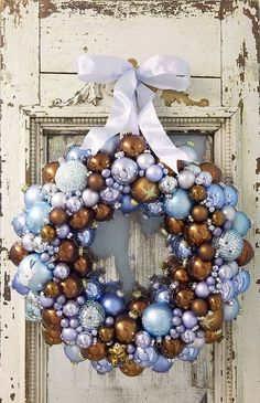 DIY Winter Wreath + Ornaments.