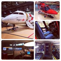 #AMBULANCIAS AÉREAS  @Janina Bleicken muestra en esta foto dos unidades aéreas de la Fundación www.rega.com de Suiza. Encontrareis como siempre en nuestra biblioteca de fotos, otras unidades interesantes.