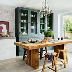 Dont hide all your crockery away. Make it a feature in your kitchen with a large freestanding dresser display unit. https://uk.pinterest.com/LoveKitchens/kitchen-dressers-larders-and-pantries/