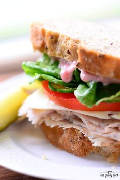 This crave-worthy Turkey Cranberry Sandwich recipe is easy to make for a quick lunch or for a party. The cranberry mayo recipe is included in the post!