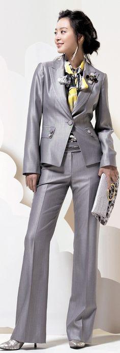 Gray office wear .♥✤ | Keep Smiling | BeStayBeautiful