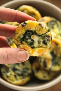 Whip up a batch of irresistibly cute two-bite frittatas. Healthy appetizer recipe | Ideahacks.com