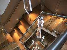 Sands Hotel Margate Bespoke Staircases, Sands Hotel, Led Chandelier, Contemporary Interior, Track Lighting, Stairs, Ceiling Lights, Interior Design, Home Decor