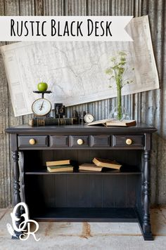 Another week another day, a furniture makeover to share today.   My absolute favourite black paint #generalfinishes lamp black, makes anoth...