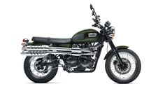 "2012 Triumph Scrambler (865cc parallel twin), from ""Here Comes the Boom"". Does it have Galz Motorcycle influence?"