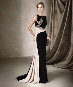 CASIA - Pronovias long dress with gemstone details