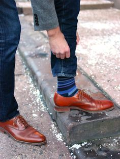Cole Haan Oxfords and socks. A staple in my rotation.
