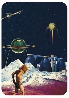 Surreal collage art by Taiwanese artist Raintree1969