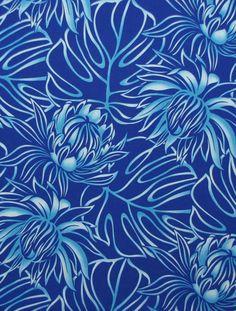 Beautiful Blue Shades Night Blooming; Learn more at HawaiianFabricNBYond.Etsy.com  Aloha :)