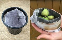Two plastic-free projects: How to make an origami paper bin liner and a paper kete (basket) Origami Folding, Origami Paper, Storing Fruit, Bin Bag, Waste Paper, Garbage Can, Diy Recycle, Crafts To Do, Easy Projects