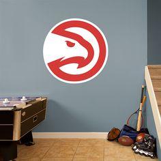 Atlanta Hawks Alternate Logo REAL.BIG. Fathead – Peel & Stick Wall Graphic | Atlanta Hawks Wall Decal