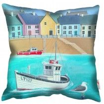 Fishing Boat - Martin Wiscombe - Art Print CushionMachine washable, Free UK delivery, handmade in UK. £34.99