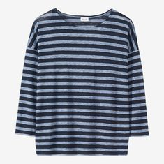439425ae2 Click to zoom Striped Linen, Striped Tee, Slouchy Tee, Long Sleeve Tees,