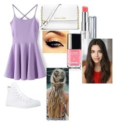 """Perfect Summer Day!"" by xaspyynx ❤ liked on Polyvore featuring Converse, Revlon and MICHAEL Michael Kors"