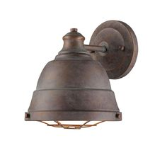 Weathered Industrial Caged Sconce