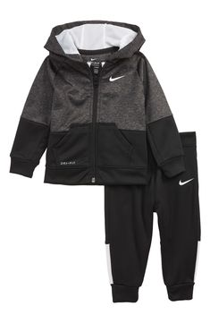 Cap /& Booties 0-6M Bodysuit NIKE THERMA DRY FIT 4 pcs GIFT Set Hooded Coverall
