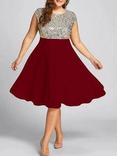 Resultado de imagem para plus size dress Sparkly Dresses 380073e53dbe