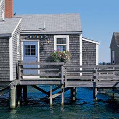 Beach house, with hydrangea blue door.  Nantucket @Kathryn Whiteside Whiteside Whiteside Whiteside Gibbons