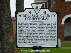 Middlesex County Courthouse N-41 | Marker History