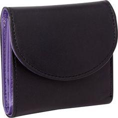 Royce Leather RFID Blocking Ladies Wallet Purple